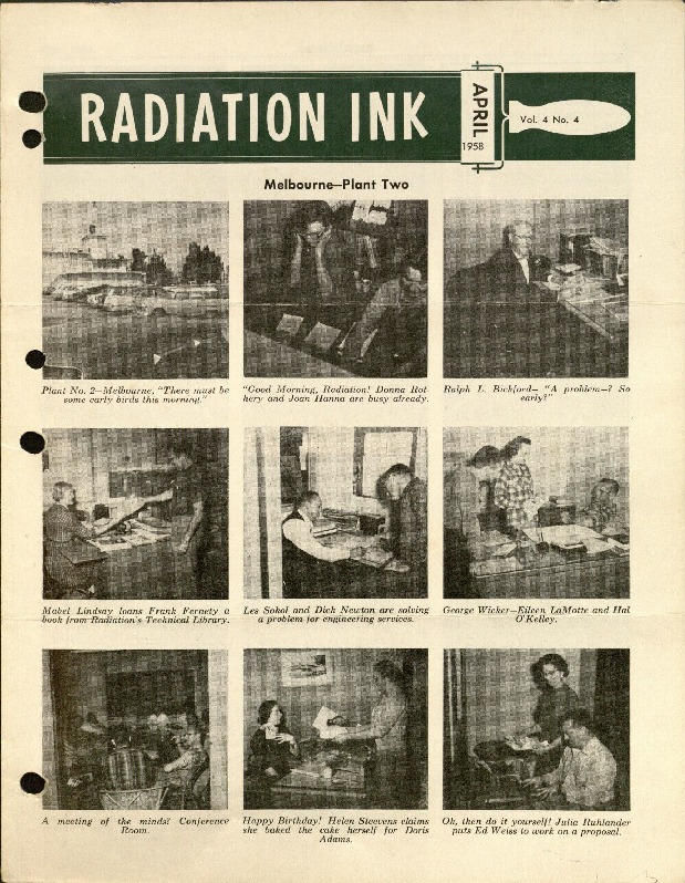 Radiation Ink Vol.4 No.4, April 1958