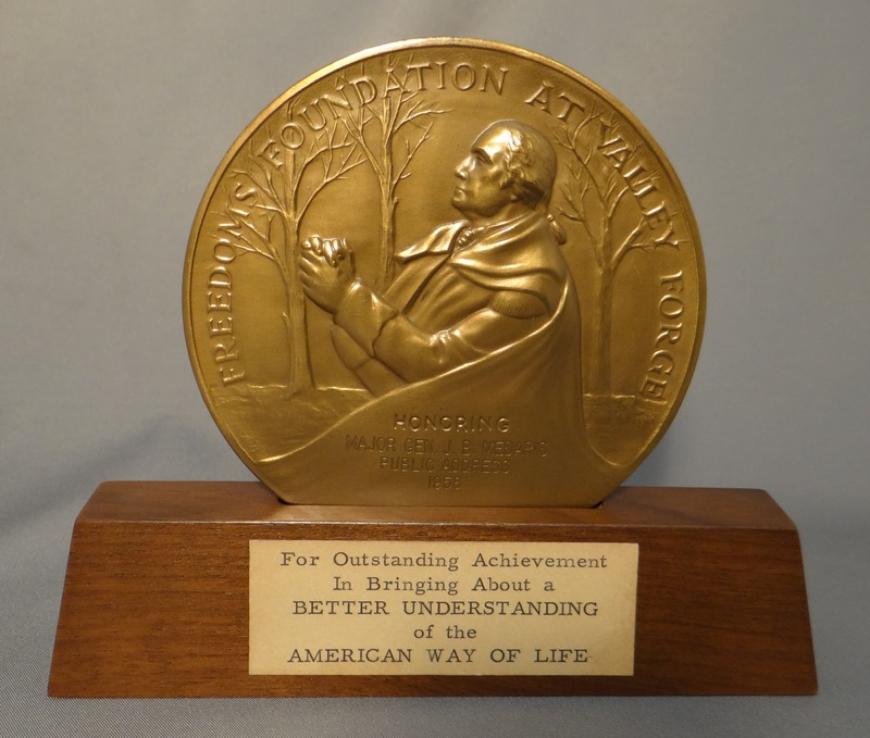 Metal Coin Bringing About a Better Understanding of the American Way of Life Award