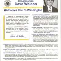 Congressman Dave Weldon Welcomes You to Washington