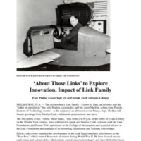 &quot;About Those Links&quot; to Explore Innovation, Impact of Link Family<br />