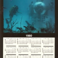 1980 calendar with photo of Johnson Sea Link