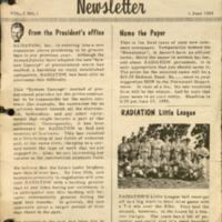 Radiation Inc. Newsletter Vol.1 No.1, 1 June 1955