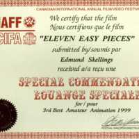 1999 Canadian International Annual Film/Video Festival: Eleven Easy Pieces