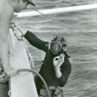 Ed Link preparing to dive
